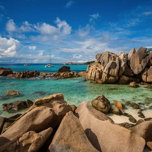 50 оттенков синего. Сейшелы, остров ЛаДиг, Гранд Анс — Анс Коко