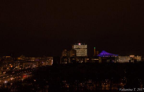 Купол Рейхстага утром ивечером