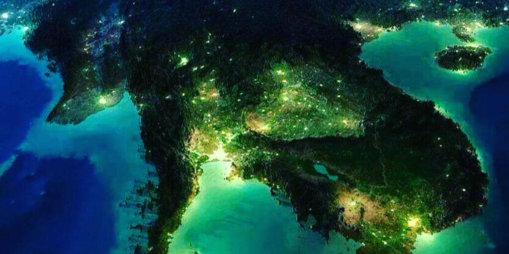 Таиланд. Вид из космоса 3D.