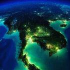 Таиланд. Вид изкосмоса 3D.