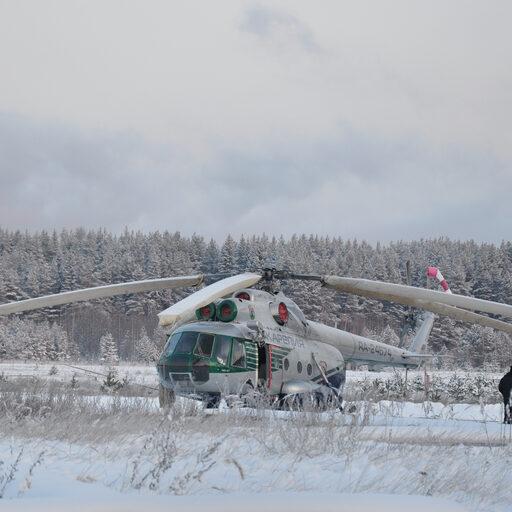 Зимние Кижи на вертолете
