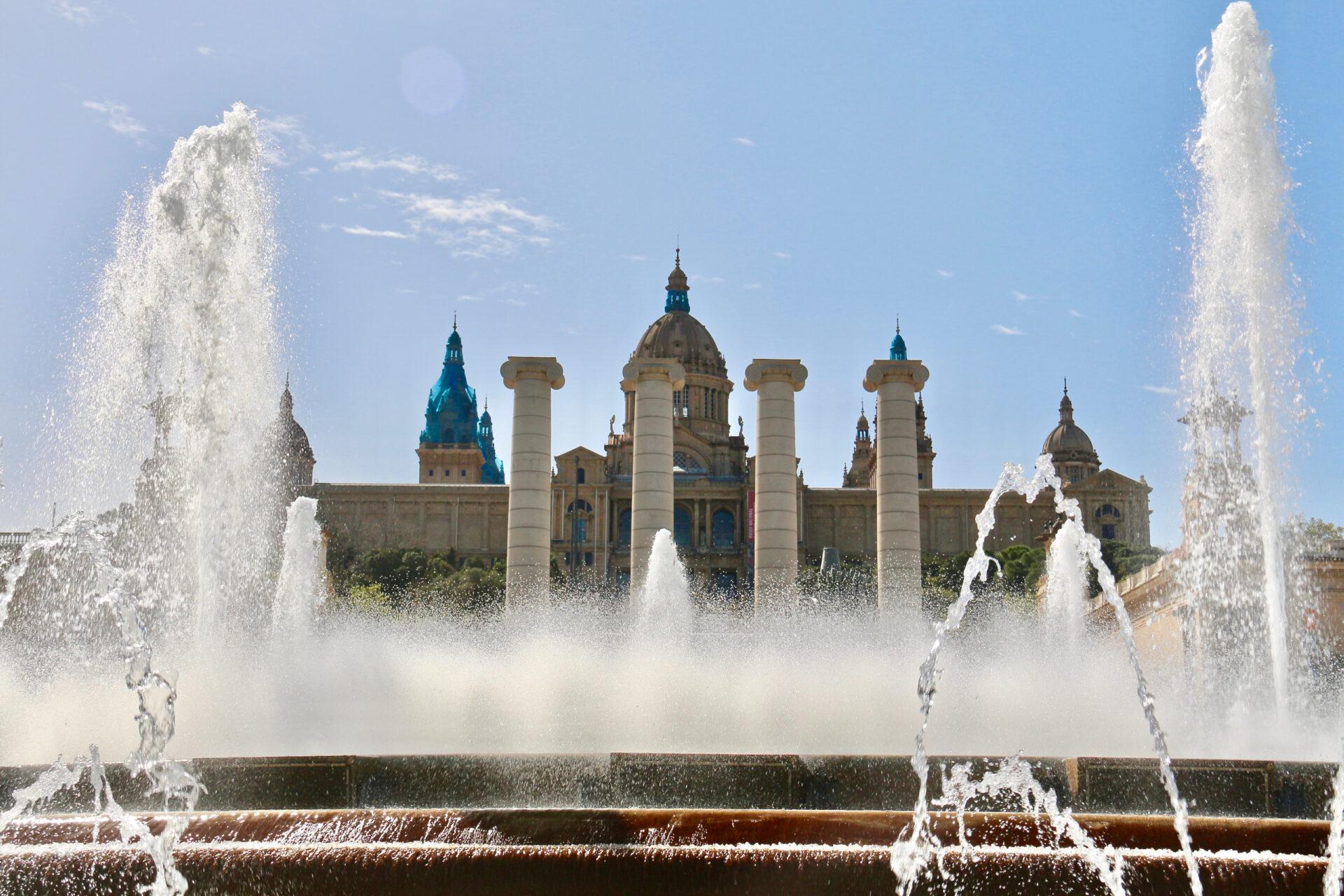 Был такой конкурс «Испанские каникулы»))) Монтжуик, площадь Испании инемного протеста.
