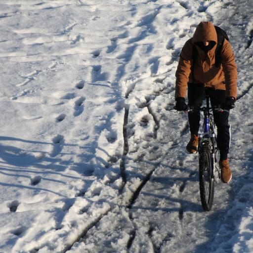 Зима и велосипед