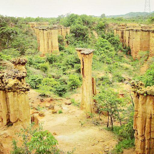 Эрозийный каньон в Танзании